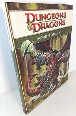 Dungeon & Dragons Monster Manual, 1st printing June 2008, 4th Edition
