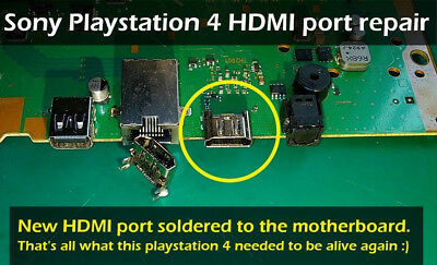 WHOLE CONSOLE Sony PlayStation 4 PS4  HDMI Port Replacement. Read ad carefully!