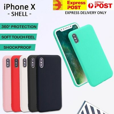 Apple iPhone X Xs Case, Genuine Ultra Thin Fit Slim Soft Gel Silicone Case Cover