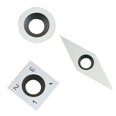 3Pcs Tungsten Carbide Inserts Cutter Set for Wood Turning Working Lathe Tool DIY