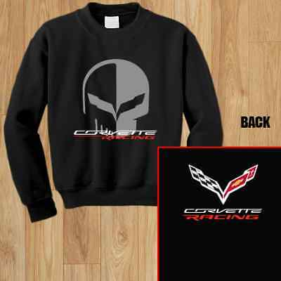 Chevrolet Corvette Racing Jake Skull Gildan Mens Sweatshirt