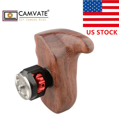 US CAMVATE Wooden Handle Grip Right w/ARRI Rosette M6 Mount for RED Camera Cage