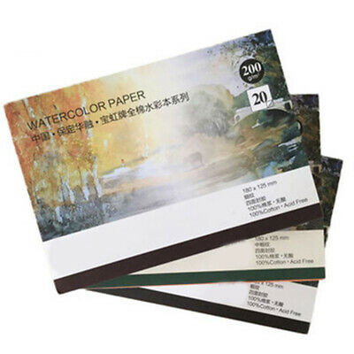 300g Professional Watercolor Paper Pad Artist Hand Painted Drawing Book-20 Sheet