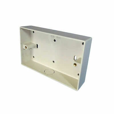 2 Gang Surface Mounted Socket Box With Knockout (145 x 85 x 32mm)