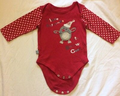 I love Christmas long sleeve bodysuit in size 3-6 months from M&S