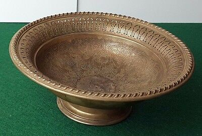 """ANTIQUE / VINTAGE - SILVER PLATED - DISH / BOWL - PATTERNED - 7"""" x 3"""" - RARE"""