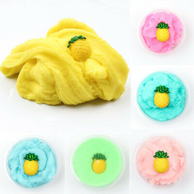 60ml Fluffy Floam Slime Scented Stress Relief No Borax Kids Pineapple Sludge Toy