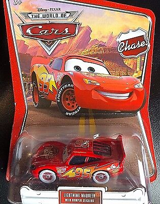 Disney Pixar Cars Modellini: Lightning Mcqueen With Bumper Stickers  Woc