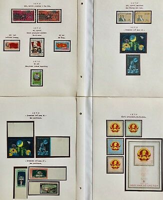 Vietnam 48 Pages Lot Collection Very Fine Unused Used Imperforates