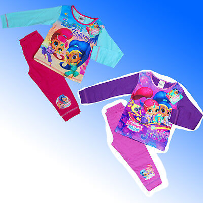 Girls Official Genuine Shimmer & Shine AOP Pyjamas Age 2 3 4 and 5 Years