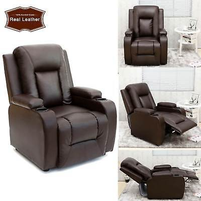 Brilliant Real Leather Cinema Armchair Sofa Bed Reading Relaxing Squirreltailoven Fun Painted Chair Ideas Images Squirreltailovenorg