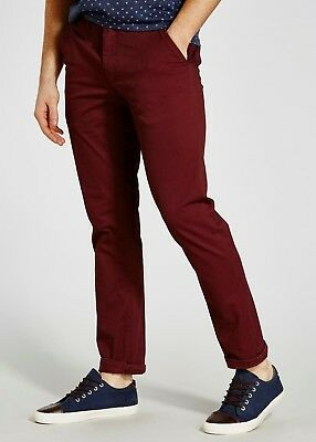 Job Lot 100 Pairs of Navy Blue and Burgundy Red Mens Chinos. Original SATEEN