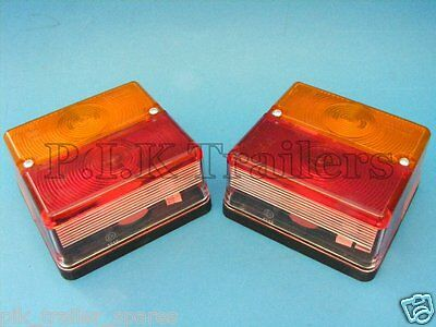 2 x BRITAX Square 4 Way Rear Lamp Light 9088 - Ifor Williams Trailer Horse Box