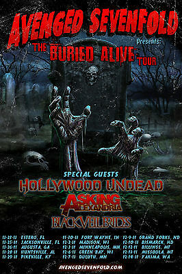 """Avenged Sevenfold """"the Buried Alive Tour"""" Poster 2011"""