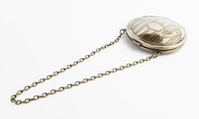 Antique SILVER PLATED Small COIN PURSE c1920