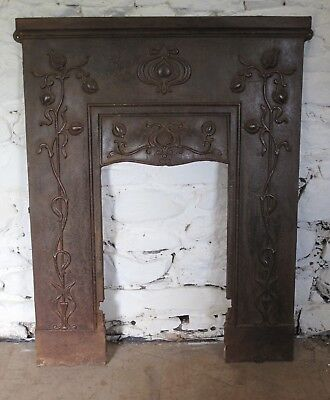 Antique Cast Iron Art Nouveau Fireplace Surround Circa 1880 UK Delivery possible