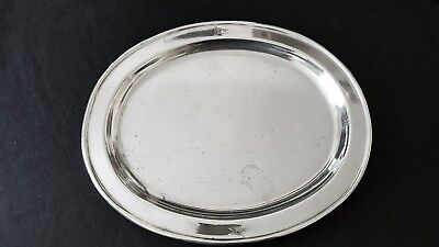 Original White Star Line large silver plated platter or tray. Titanic interest.