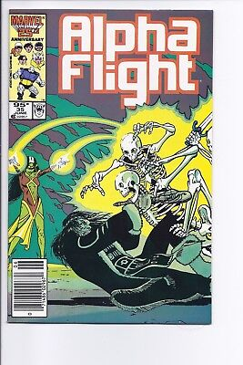 High Grade Canadian Newsstand Variant Edition $0.95 Price Alpha Flight #35