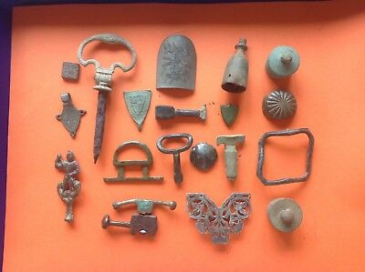 Collection Of Detecting Finds Various Items