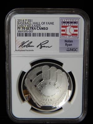 2014-P Baseball Hall of Fame NGC PF70 Early Realse Ultra Cameo