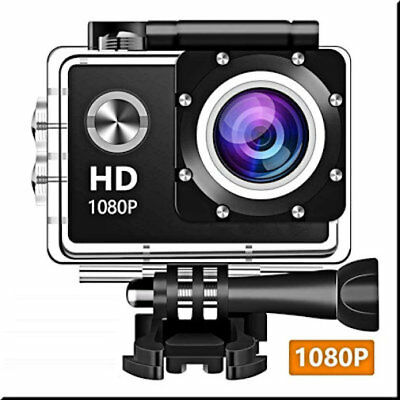 Wewdigi EV4000 Action Camera, 12MP 1080P 2 Inch LCD Screen, Waterproof...