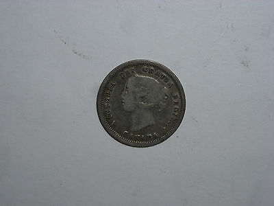 Canada 1858 Five Cents Silver Coin