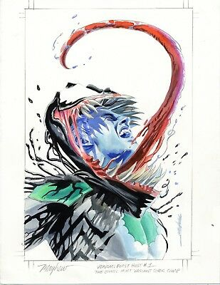 Mike Mayhew Original VENOM: FIRST HOST #1 Marvel Variant Cover Painted Prelim