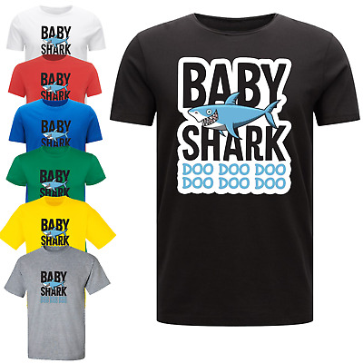 Baby Shark Doo Doo Mummy Daddy Family T-Shirts Matching Funny Gift Novelty Meme