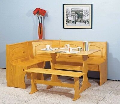 New Corner Dining Set Breakfast Nook Bench Chair Kitchen Booth Furniture Table