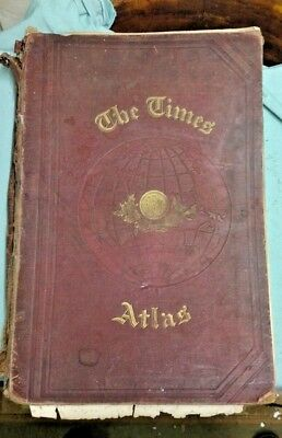 The Times Atlas From 1900 .  Very Rare.