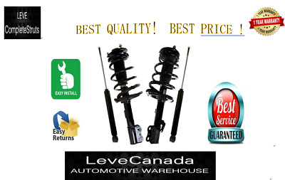 2004-2006 Toyota Sienna 2pcs Front  Complete Struts and 2pcs Rear  Shocks
