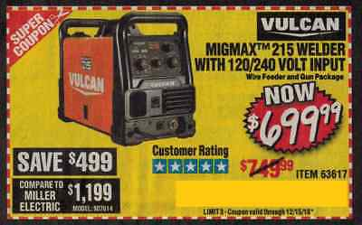 Harbor Freight Coupon For Migmax 215 Welder With 120 240 Volt Input