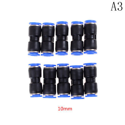 10 PCS 10mm Pneumatic Air Quick Push to Connect Fitting Straight Tube  HL
