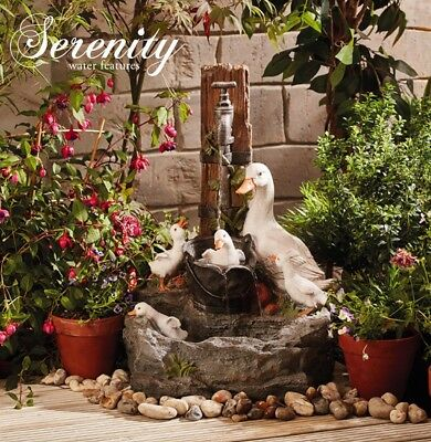 Serenity Duck Pond Garden Water Feature Cascade Self Contained Outdoor Ornament