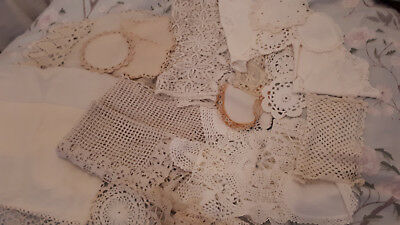 Collection Of Vintage Lace Doilies And Anit Massacars