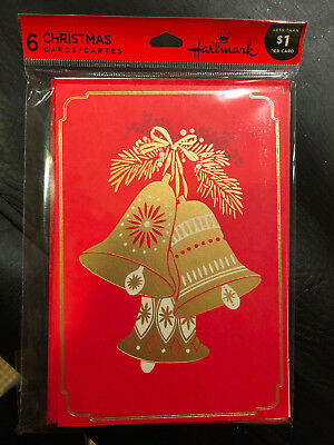 Hallmark Christmas Cards.Hallmark Christmas Cards Pack Of 6