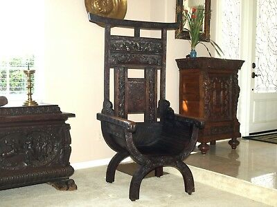 A Chinese carved throne chair, 19th century
