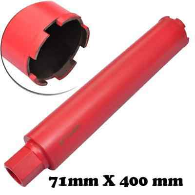 """2.8"""" x 1' 4"""" Dry and Wet Diamond Core Drill Bit Drilling for Concrete Hard Stone"""