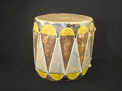 An Nice, Early Pueblo Drum, Southwest Native American Indian, c.1930