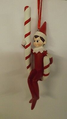Dept 56 Elf On The Shelf Peppermint Swing Ornament 4056873 MWT