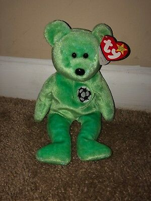 TY Kicks the bear beanie babie- excellent condition RARE!! LOOK!!
