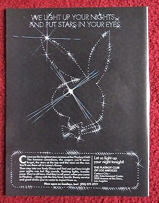 1980 Print Ad PLAYBOY CLUB of Los Angeles ~ Light Up Your Night Stars in Eyes