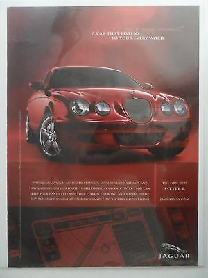 2005 Print Ad Jaguar Sports Car Automobile ~ Listens to Your Every Word Voice