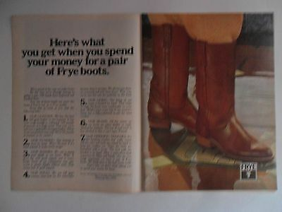 1978 Print Ad Frye Cowboy Boots Western ~ What You Get When You Spend Your Money
