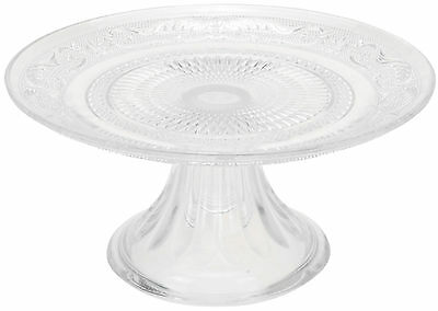 Classic Vintage Style Glass Cake Stand Retro Shabby Chic Glass 20cm Cake Plate