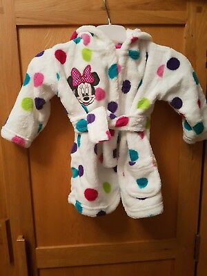 Disney Minnie Mouse Dressing Gown 0-6 Months