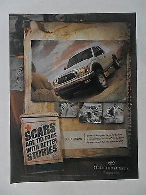 2002 Print Ad Toyota Tacoma Pickup Truck ~ Scars Are Tattoos With Better Stories