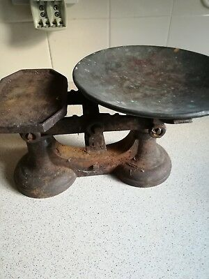 Vintage Rustic Cast Iron Kitchen Scales 99p start