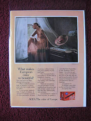 1978 Print Ad AGFACHROME Color Slide Film ~ What Makes European Color Beautiful?