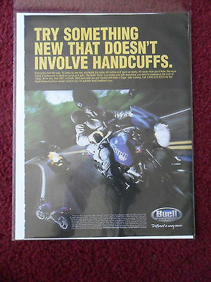 2002 Print Ad BUELL BLAST Motorcycle ~ Something That Doesn't Involve Handcuffs